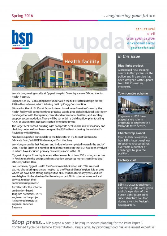 BSP Consulting Spring Newsletter 2016